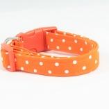 Orange Dot Dog Pet Collar