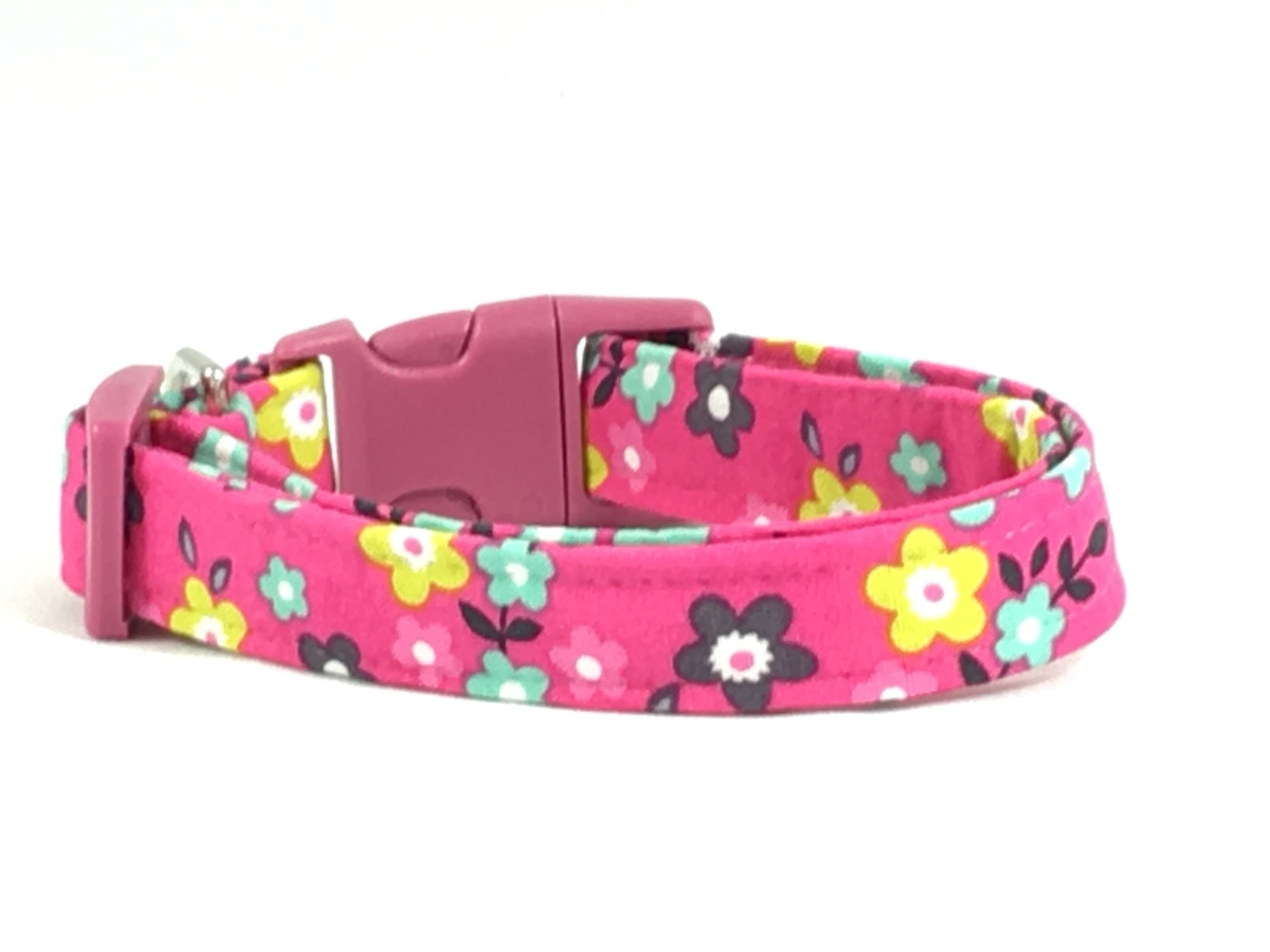 Best clothes accessories for your pets at discounted price in usa bright pink flower dog pet collar dhlflorist Choice Image