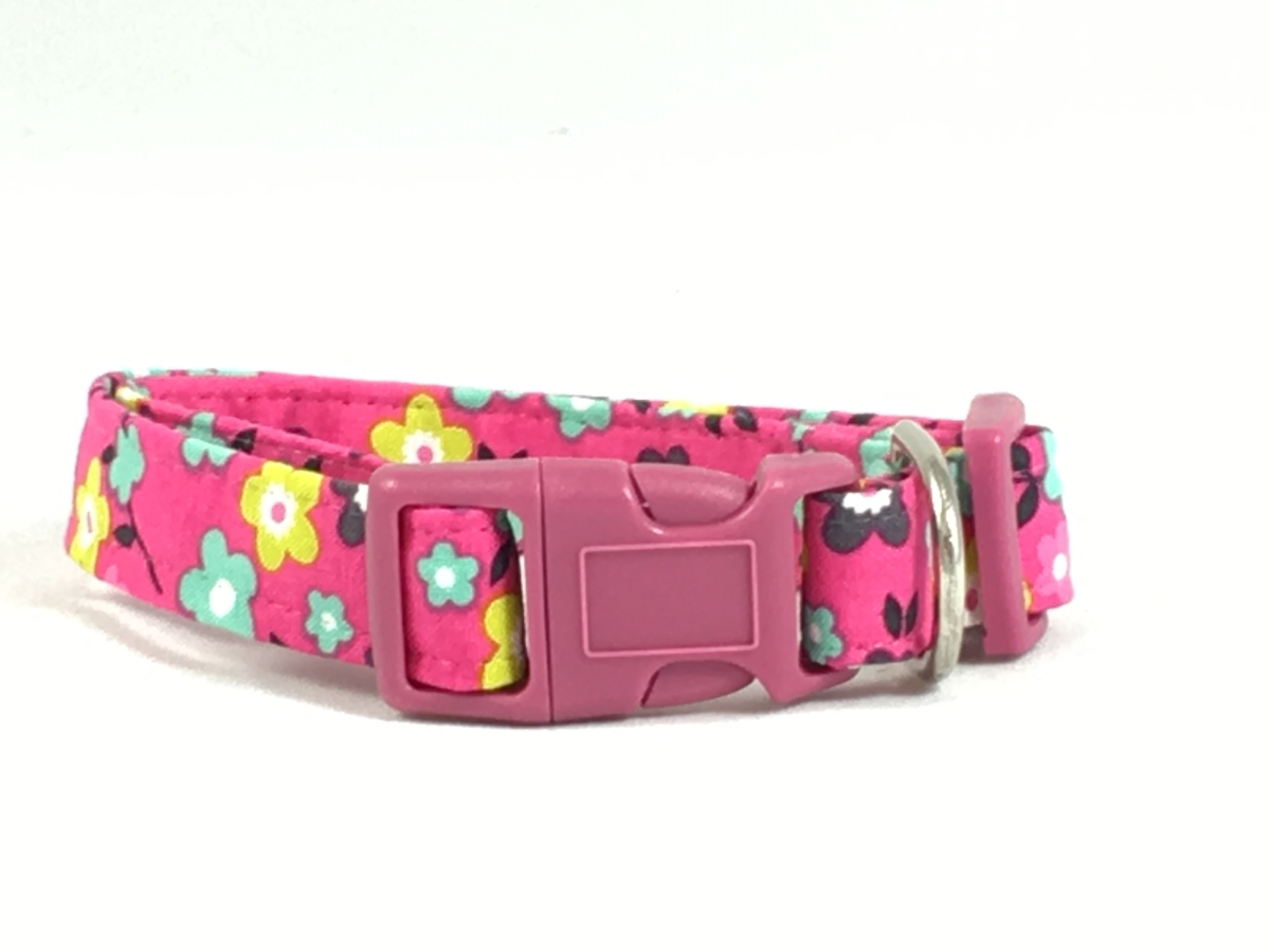 Best clothes accessories for your pets at discounted price in usa bright pink flower dog pet collar img2335 img2340 dhlflorist Choice Image