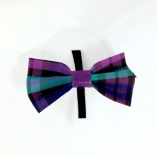 Purple and Turquoise Plaid Pet Bow Tie