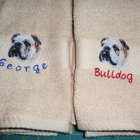 Personalized Pet Dog Breed Hand Towels