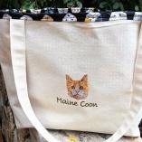 Personalized JUMBO Exotic Pet Cat Breed Tote Bag