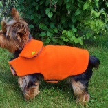 Reversible Field Coat in Hunting Orange and Camouflage for Sport Dogs