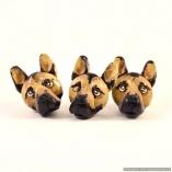 German Shepherd Dog Breed Magnets- Set of 3