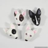 Bull Terrier Dog Breed Magnet Gift Set – Set of 4