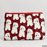 Bichon Frisé Toiletry Travel Bag Gift for Dog Lovers
