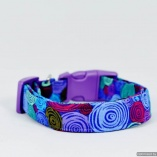 Blue Paper Rolls Designer Dog Pet Collar
