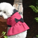 Bella & Friends Fuchsia Boucle Cold Weather Dress Dog Coat