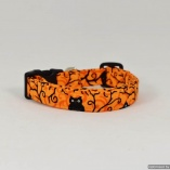 Halloween Cute Owls in Tree with Scroll Dog Pet Collar
