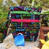 Dog Walker Bag Gift for Dog Lovers – Black with Multi Color