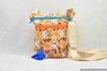 The Dog Walker Bag Gift for Dog Lovers – Puppy Love Orange – with Built in Pet Waste Bag Dispenser